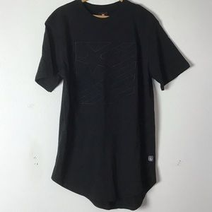 Southpole collection embossed black shirt